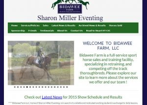 Sharon Miller Eventing new website