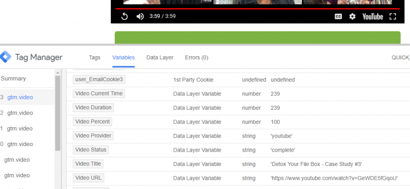 Tracking YouTube Videos with Google Tag Manager